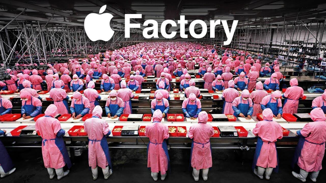 What is hidden behind the biggest Apple factory in China?